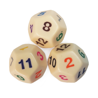 12-Sided Large Demo Dice - DC20
