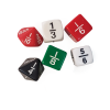 Fraction Dice set of 6 Dice