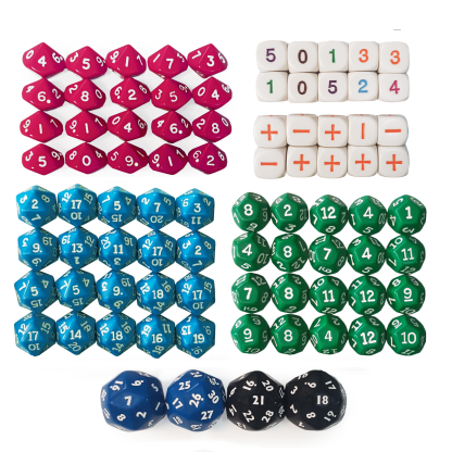 Rock and Roll Primary Dice Kit - KM21